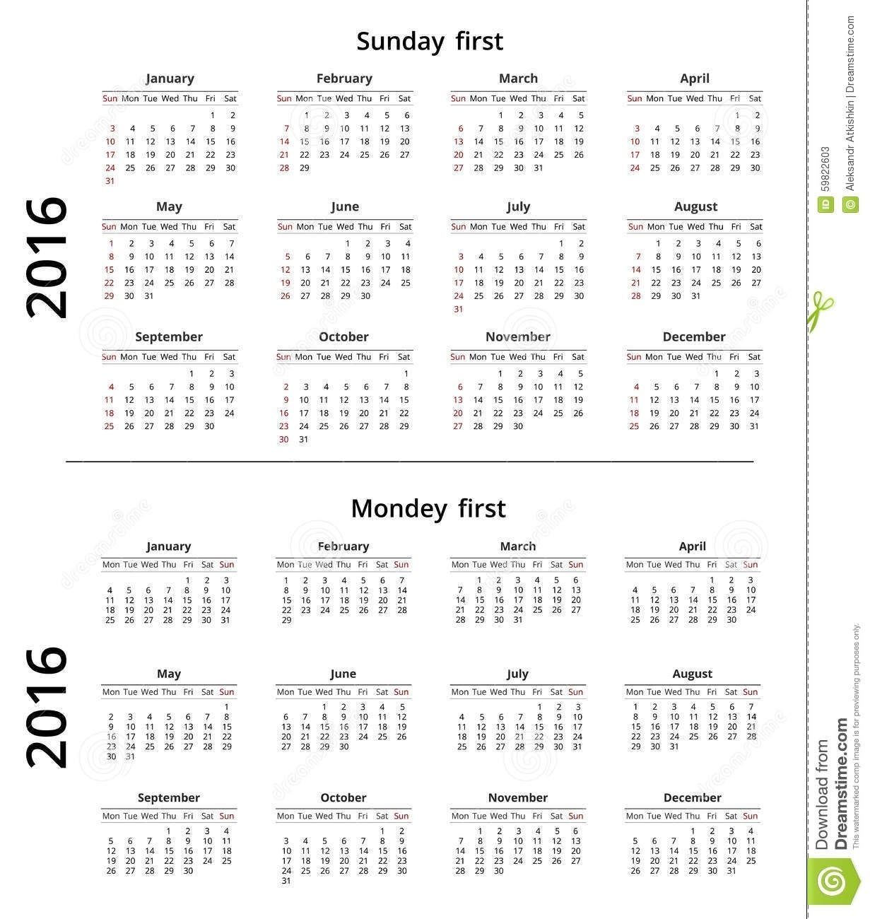calendar week usa vs europe | ten free printable calendar