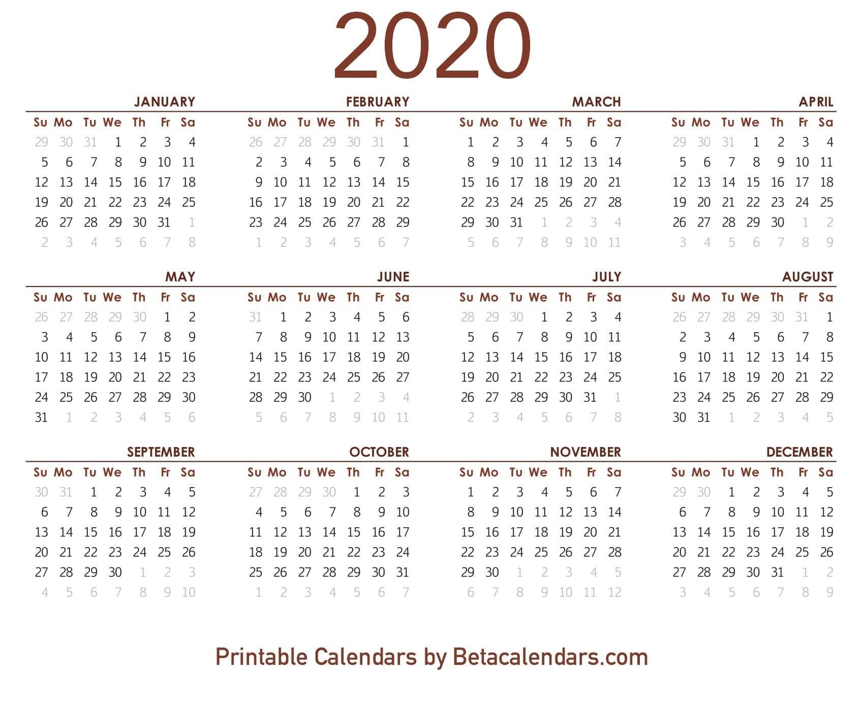 Calendar Week Wise 2020 Pdf | Month Calendar Printable
