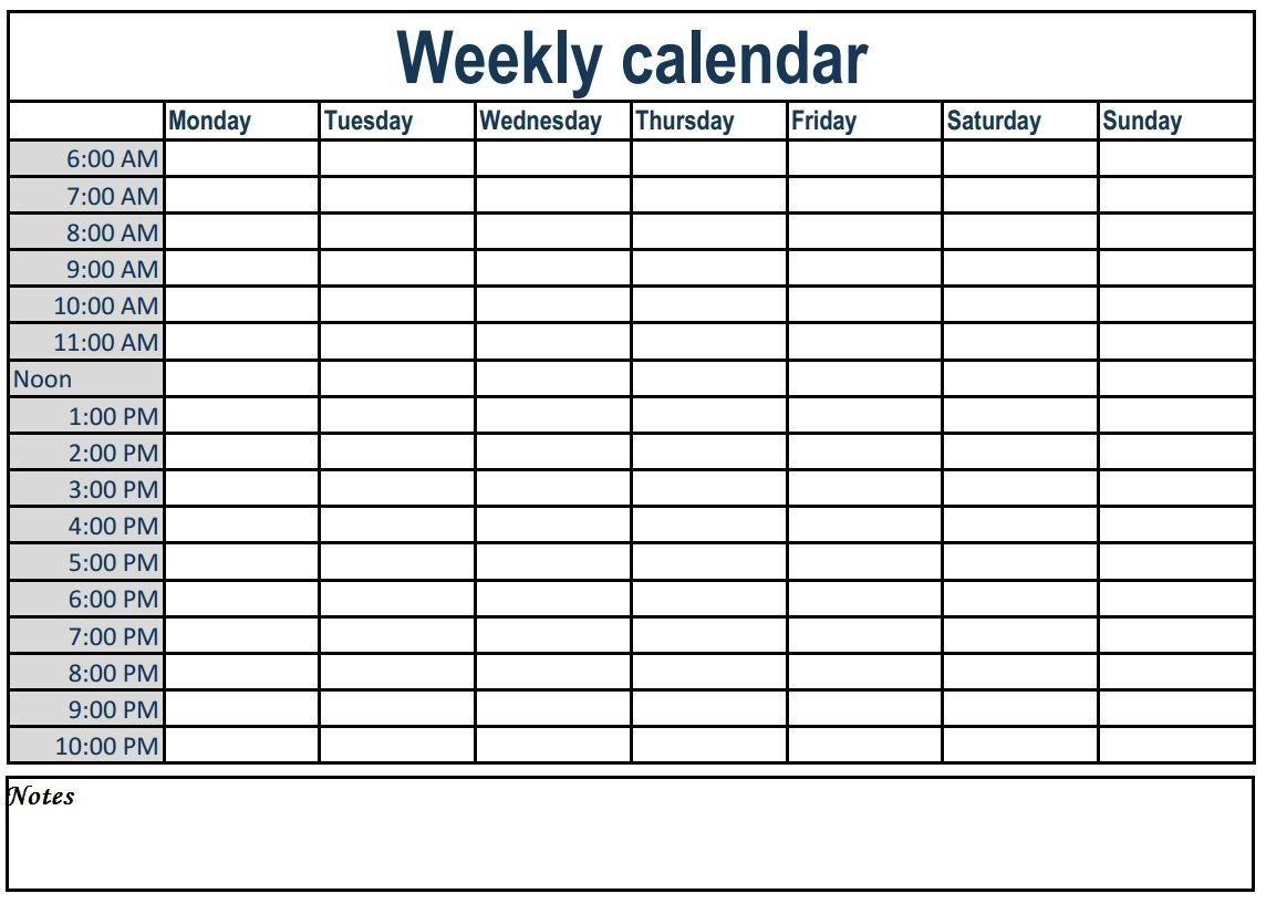 Calendar With Time Slots Printable | Month Calendar Printable