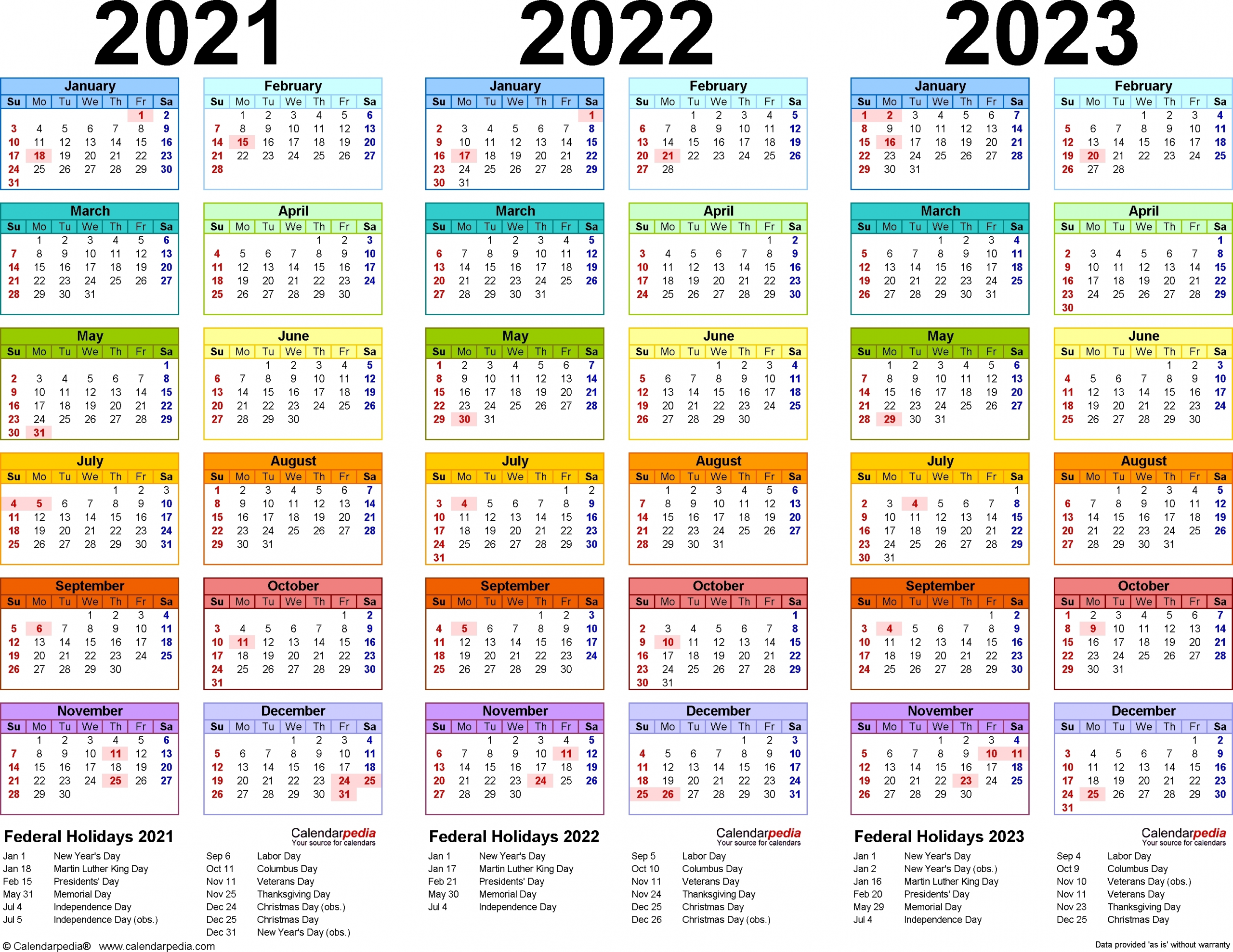 calendar years 2019 2020 2021 2022 2023 calendar