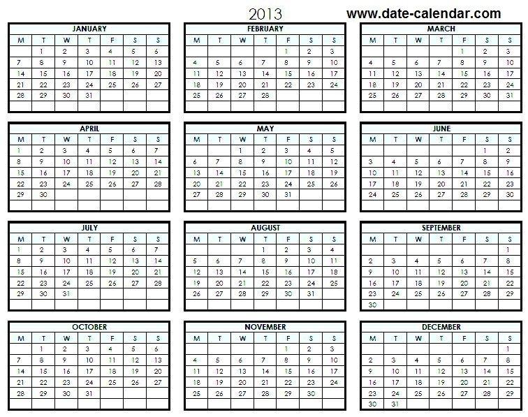 Calender 2013: Calender 2013 Latest 2013 Calender