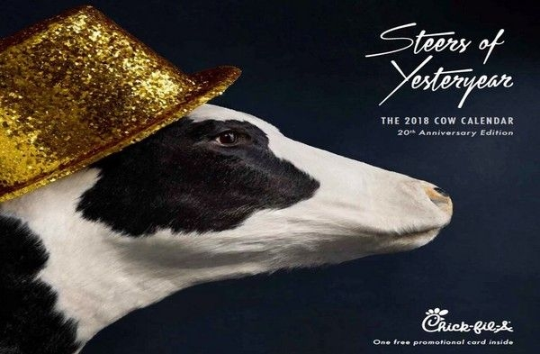Chick Fil A Kills The Cow Calendar And People Aren't Happy