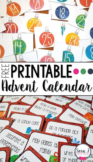 Classroom Freebies Too: Free Advent Calendar