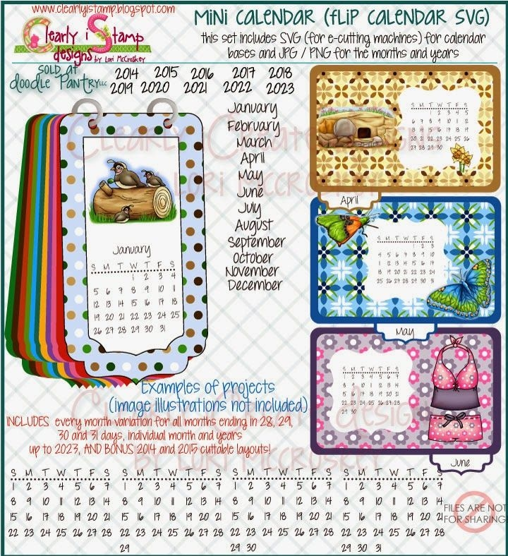 Clearly Istamp: Make Your Own Flip Calendar With Mini