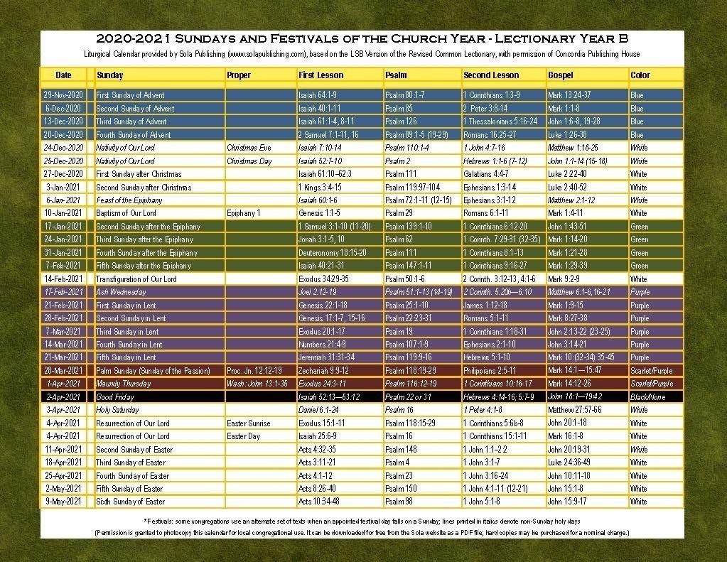 common lectionary 2021 template calendar design