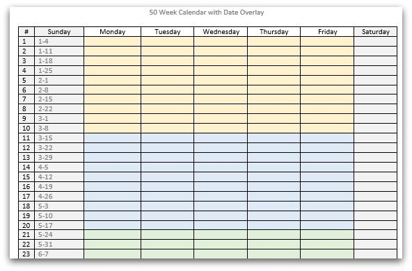 creating a planning calendar that makes sense