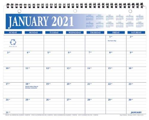 cwc 811 2021 wall calendar 8 5 x 11 inches