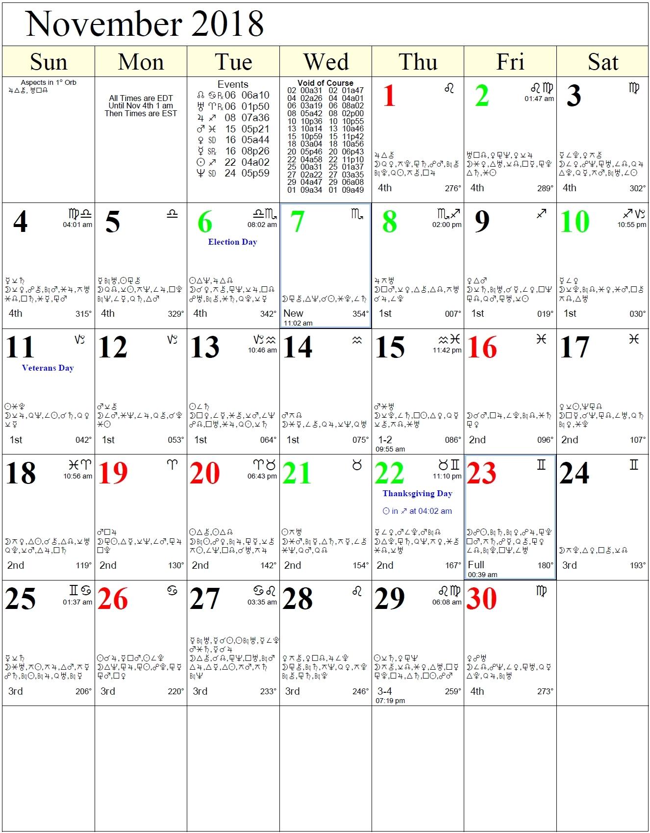 days in a zodiac calendar   ten free printable calendar