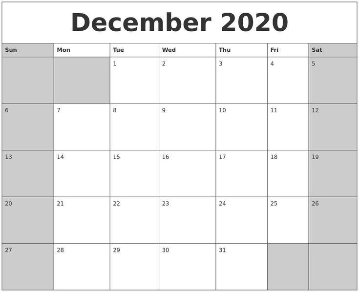 dec 2020 calendar printable pleasant to help our weblog