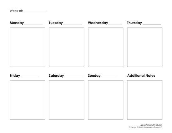 dentrodabiblia: 10 day calendar template
