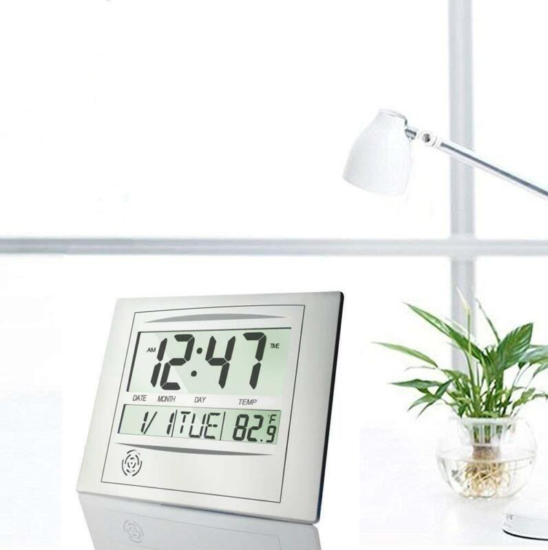 Digital Visually Impaired Clock Silent Day Calendar