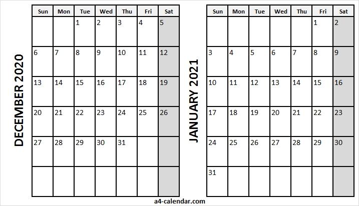 Download Calendar January 2021 / Printable January 2021