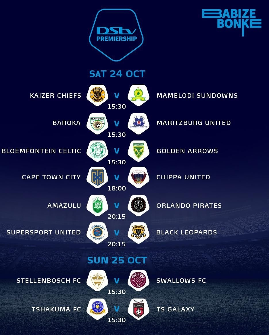 Dstv Premiership Fixtures Today Psl Fixtures And Results