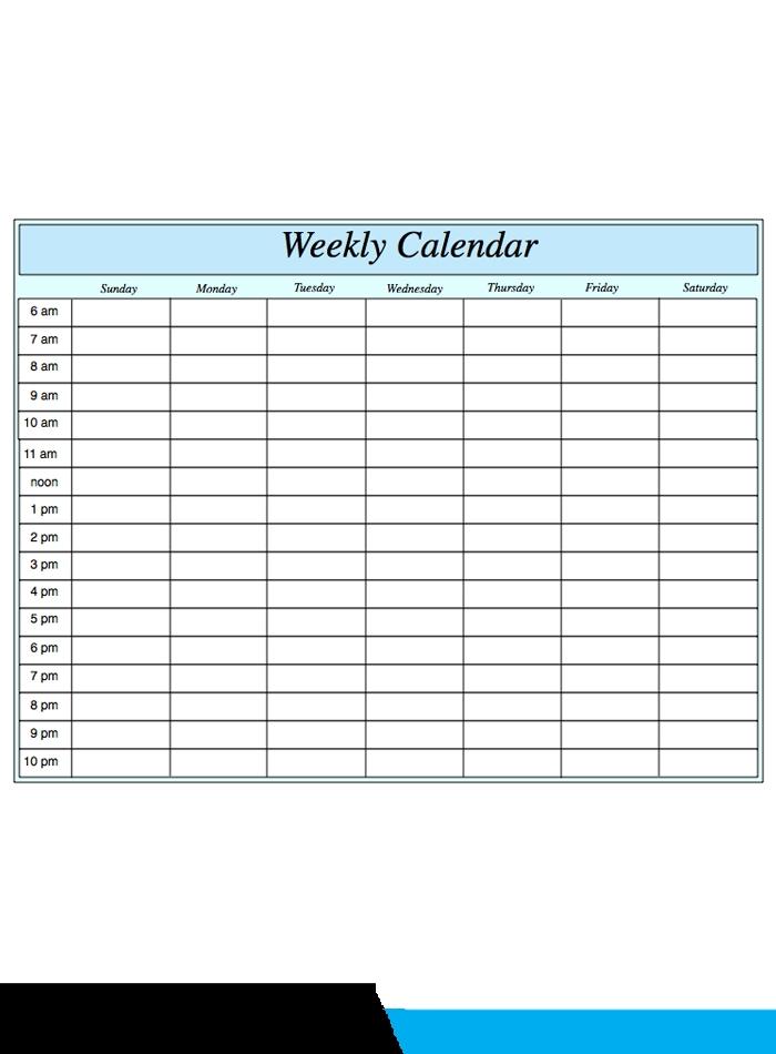 ️free printable weekly calendar 2019 2020 template [pdf