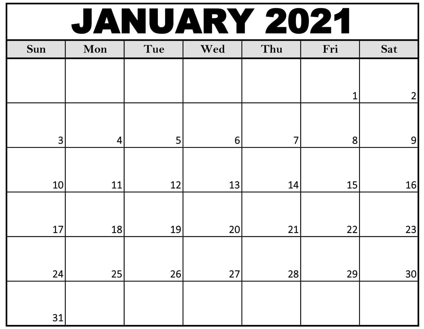 February 2021 Free Printable 2021 Calendar With Holidays