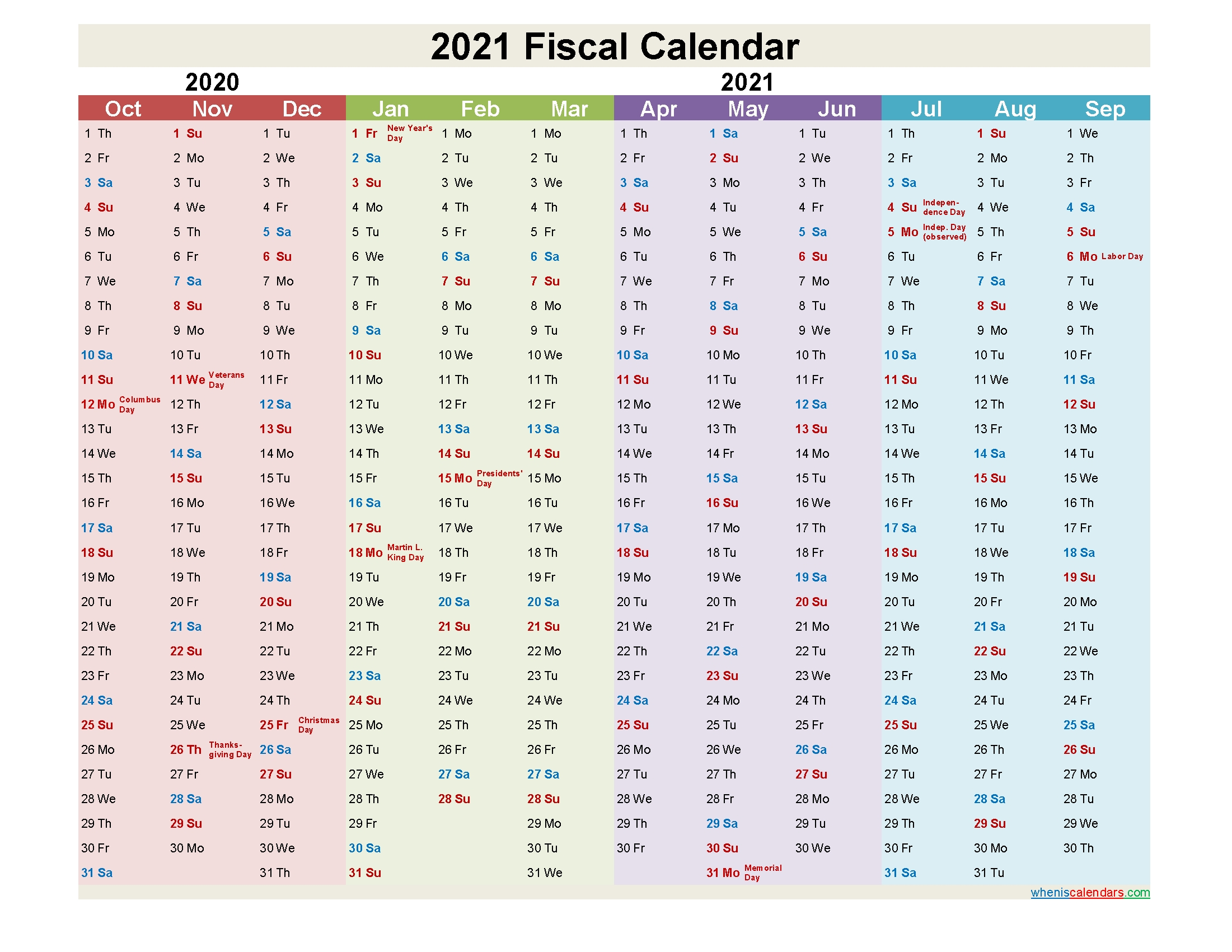 fiscal year 2021 quarters template no fiscal21y6   free