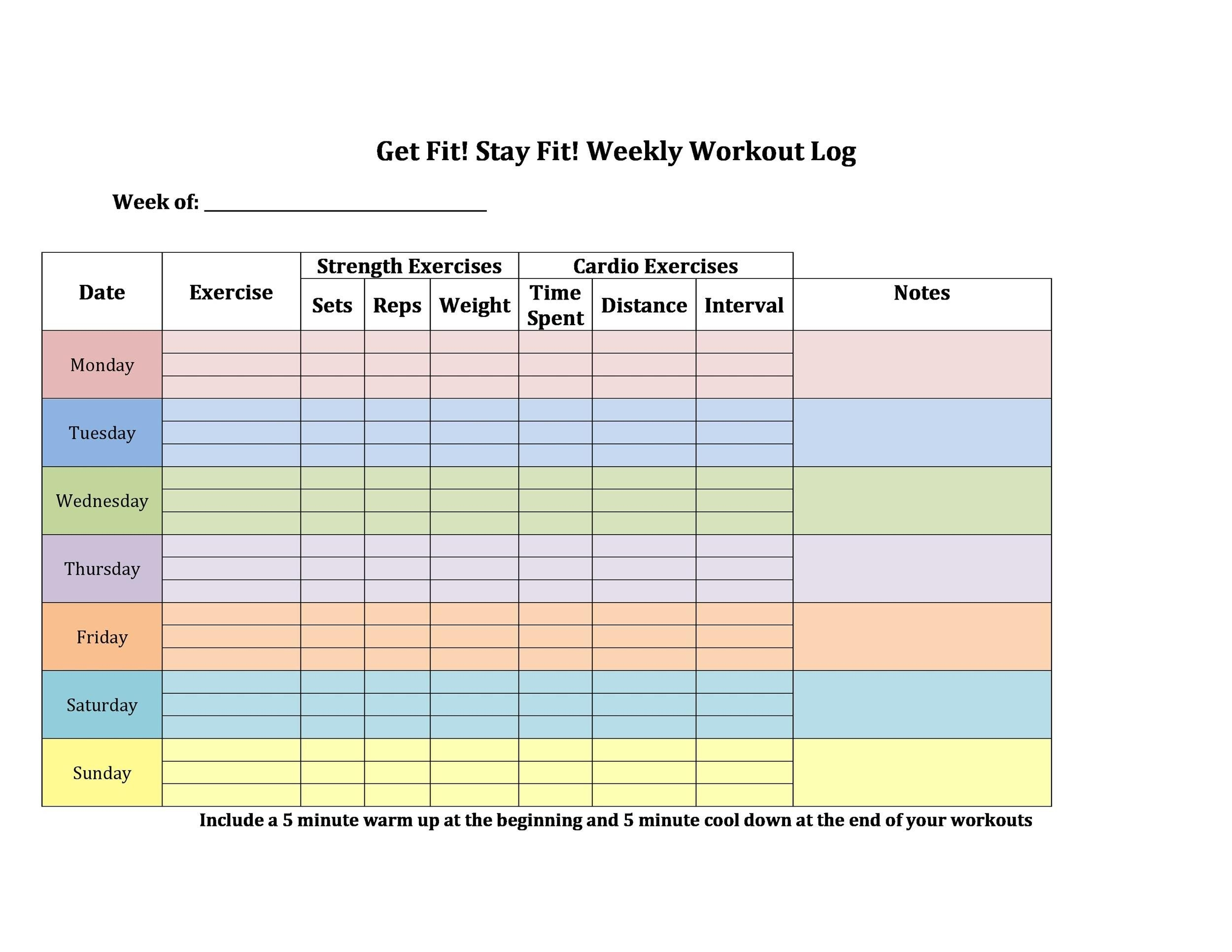 fitness plan template weekly all photos fitness tmimages