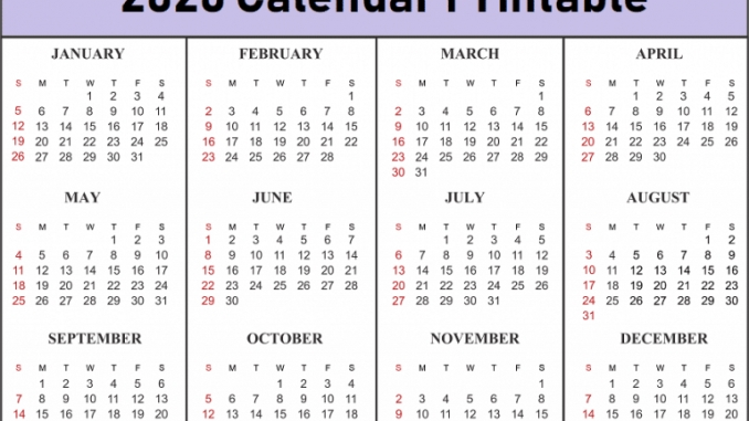 free 12 month calendar one page template printable online