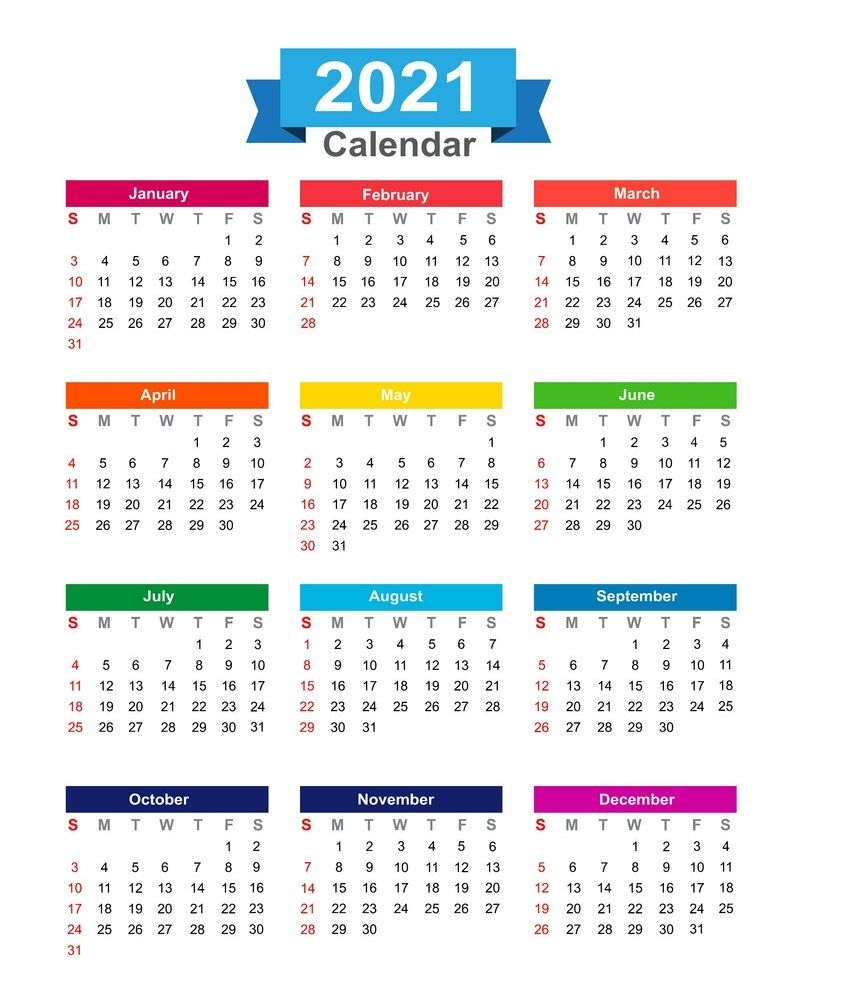 free 2021 yearly calender template : 2021 calendar