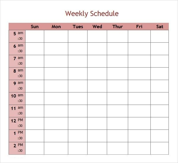 Free 7 Weekend Scheduled Samples In Google Docs | Ms Word