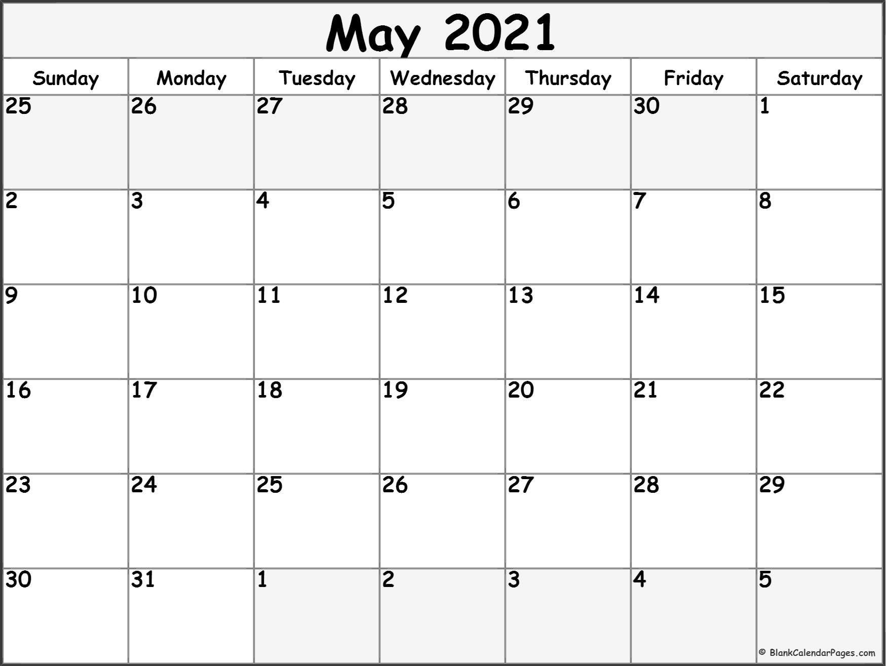free blank printable monthly calendar 2021 | calendar