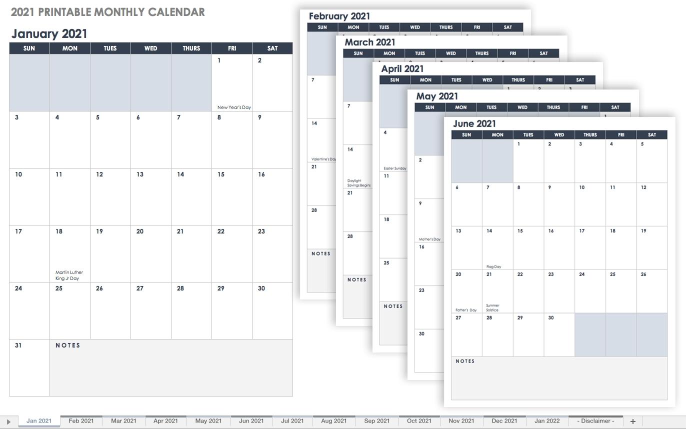 free downloadable 2021 word calendar / 2021 printable
