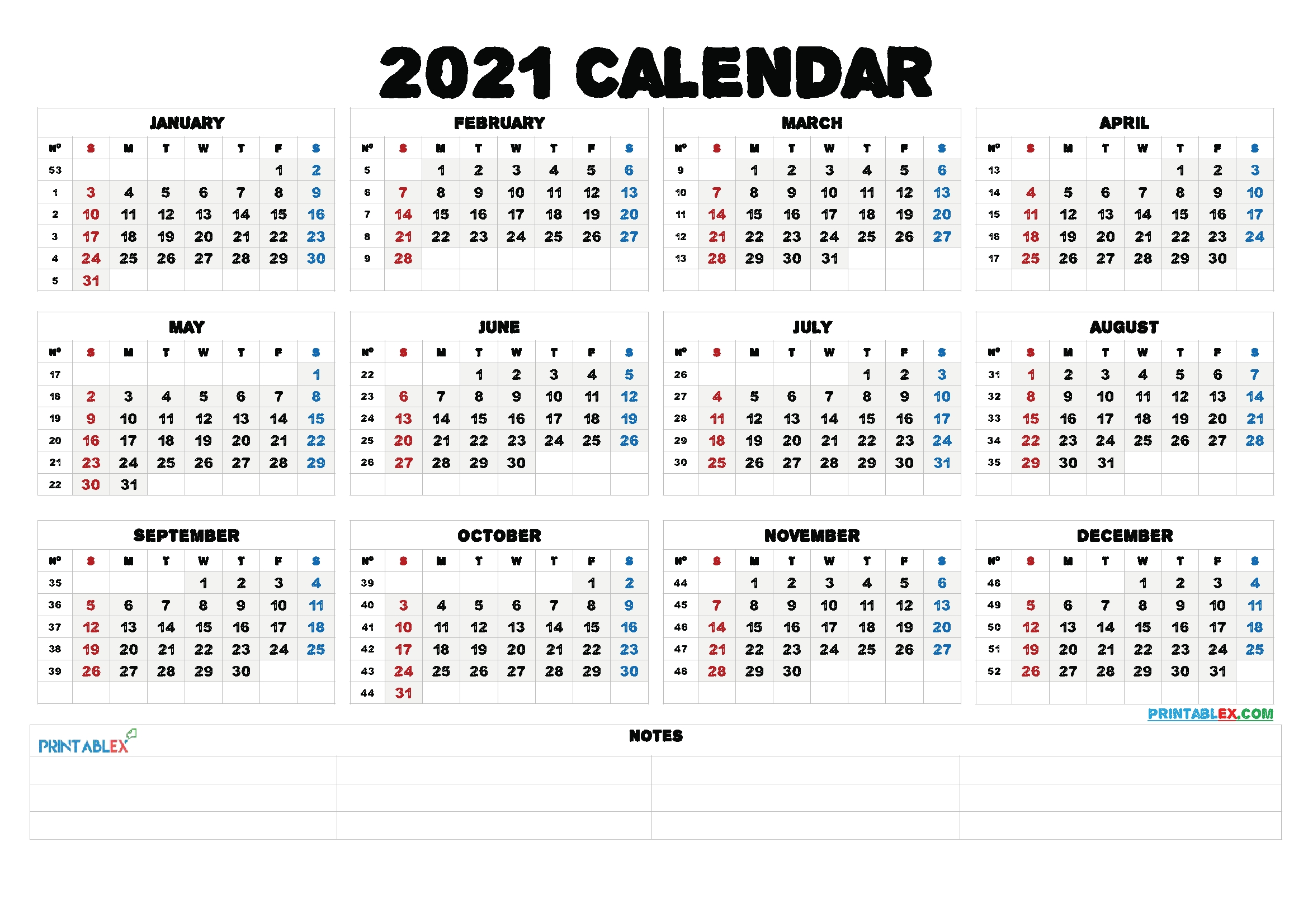 Free Editable Weekly 2021 Calendar Free 2021 Monthly