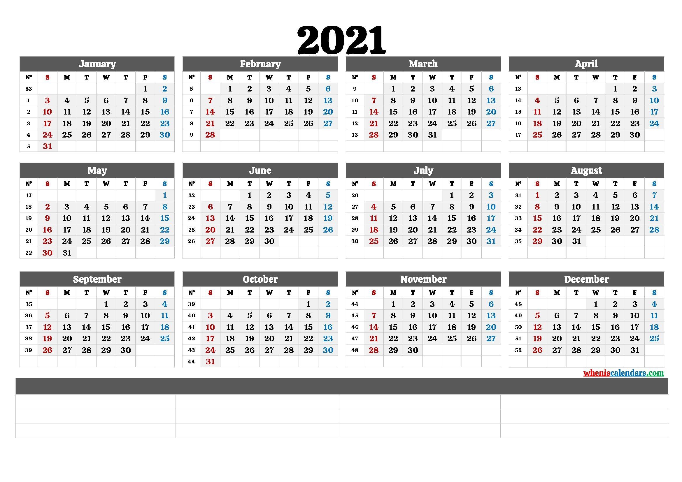 Free Editable Weekly 2021 Calendar / Weekly Calendar 2021