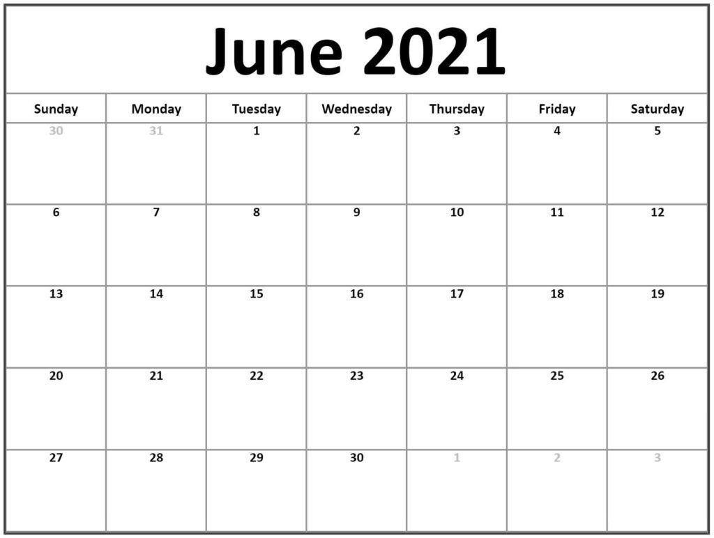 free june 2021 calendar printable blank templates