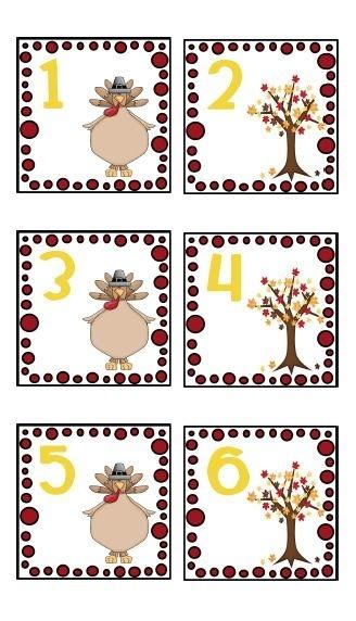 free november calendar cards | creating & teaching
