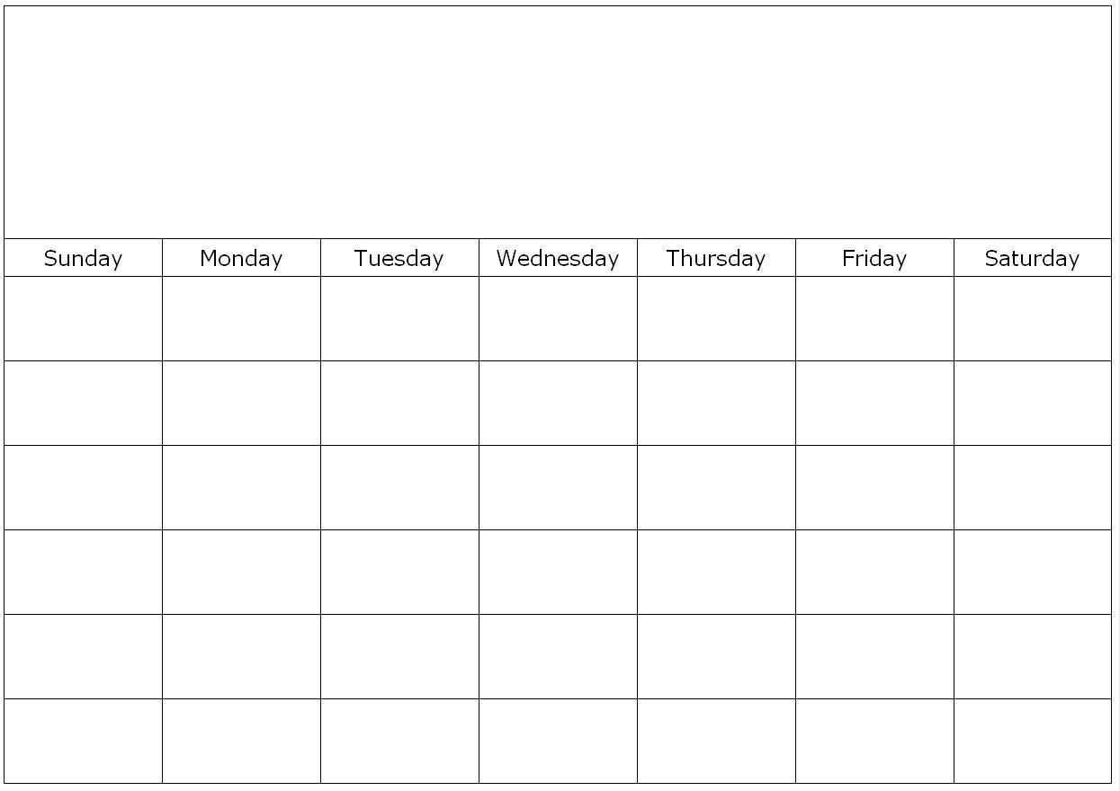 Free Printable 1 Month Calendar | You Can Find This