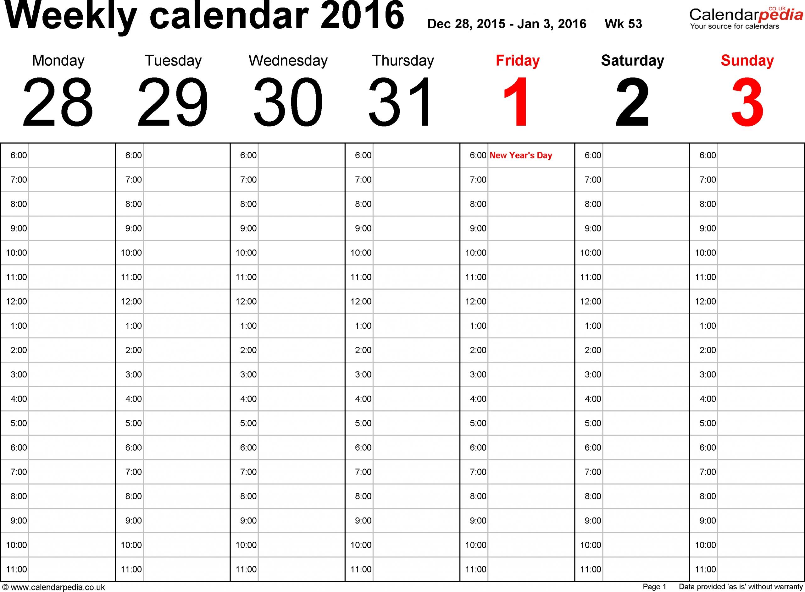 free printable 52 week calendar | calendar printables free