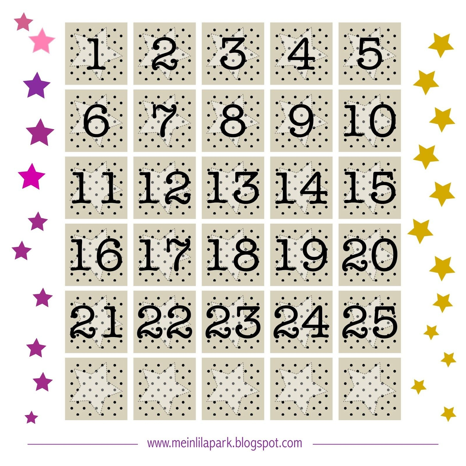 Free Printable Advent Calendar Tags Ausdruckbarer
