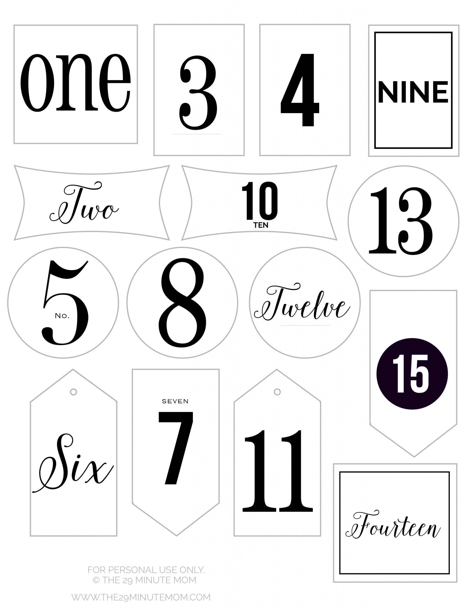 Free Printable Advent Calendar Tags | Calendario Avvento
