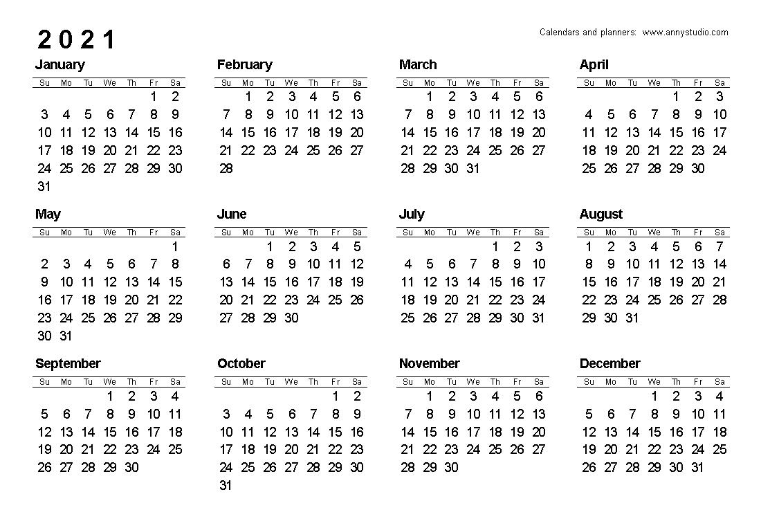 free printable caldender 2021 monday to sunday calendar