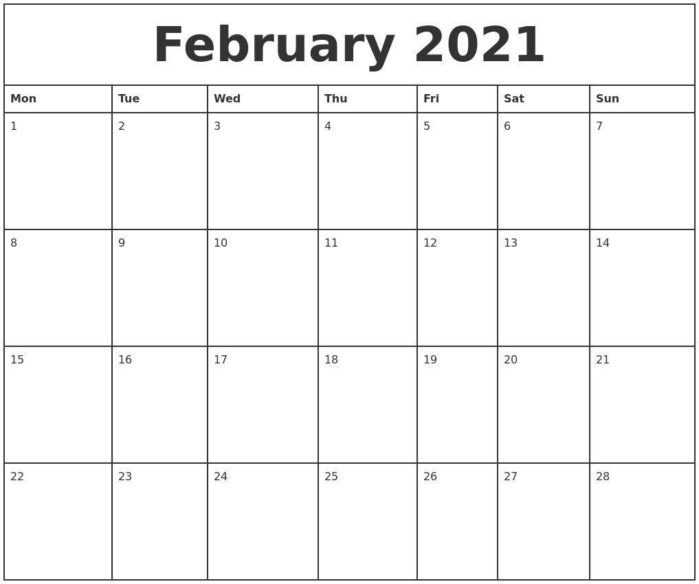 Free Printable Calendar 2021 Monthly | 2021 Printable