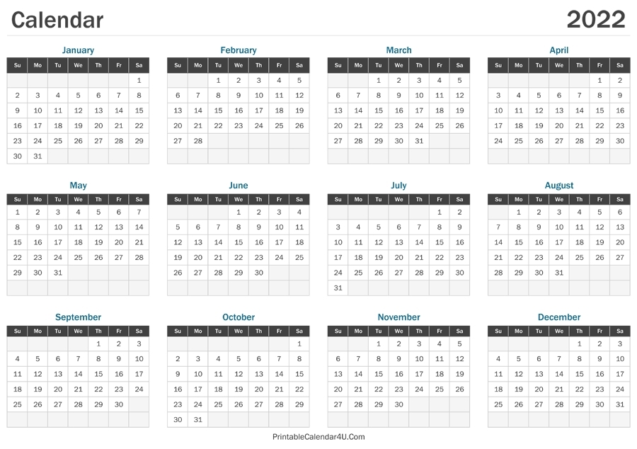Free Printable Calendar 2021 Monthly With Holidays 8 1/2 X