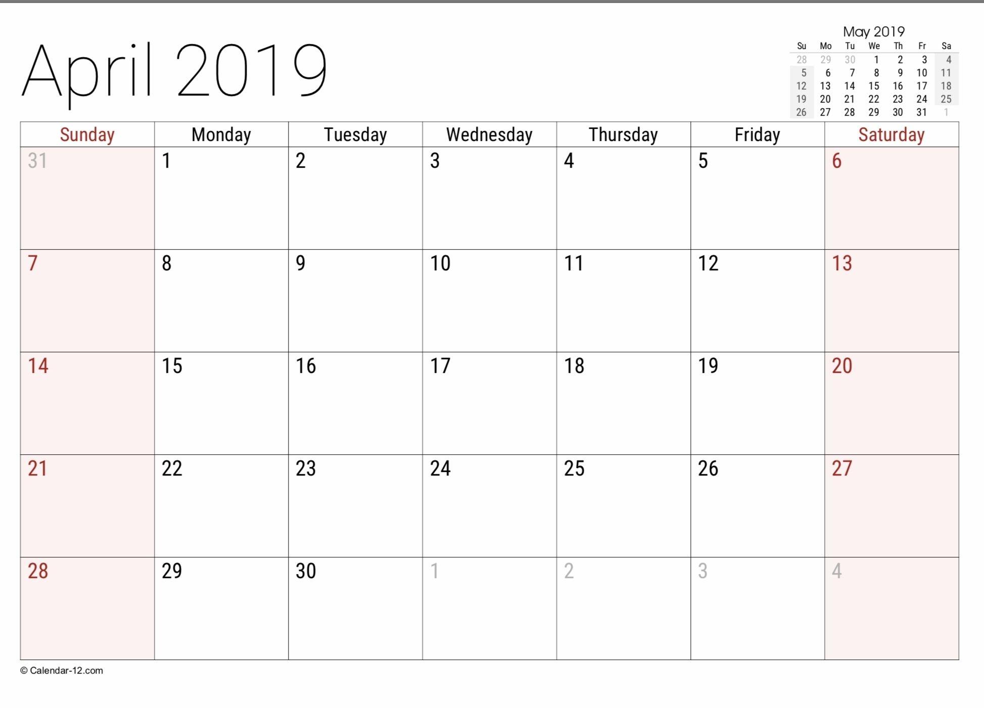 free printable calendar 8 1/2 x 11 | month calendar printable