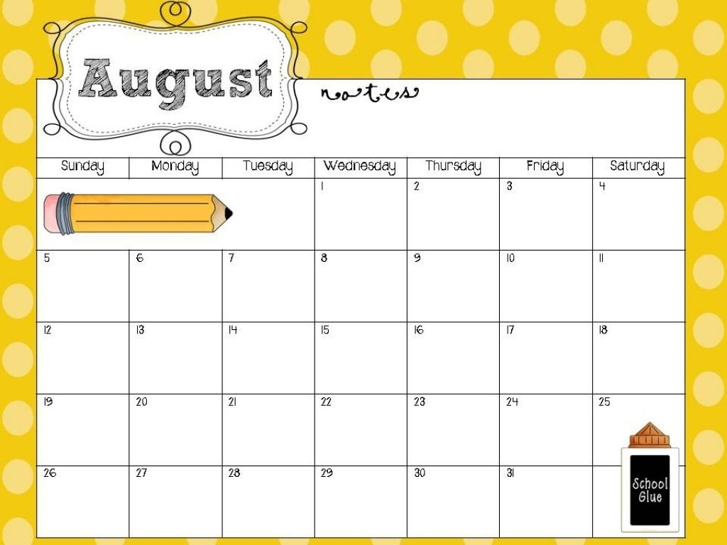 free printable calendar for teachers   ten free printable