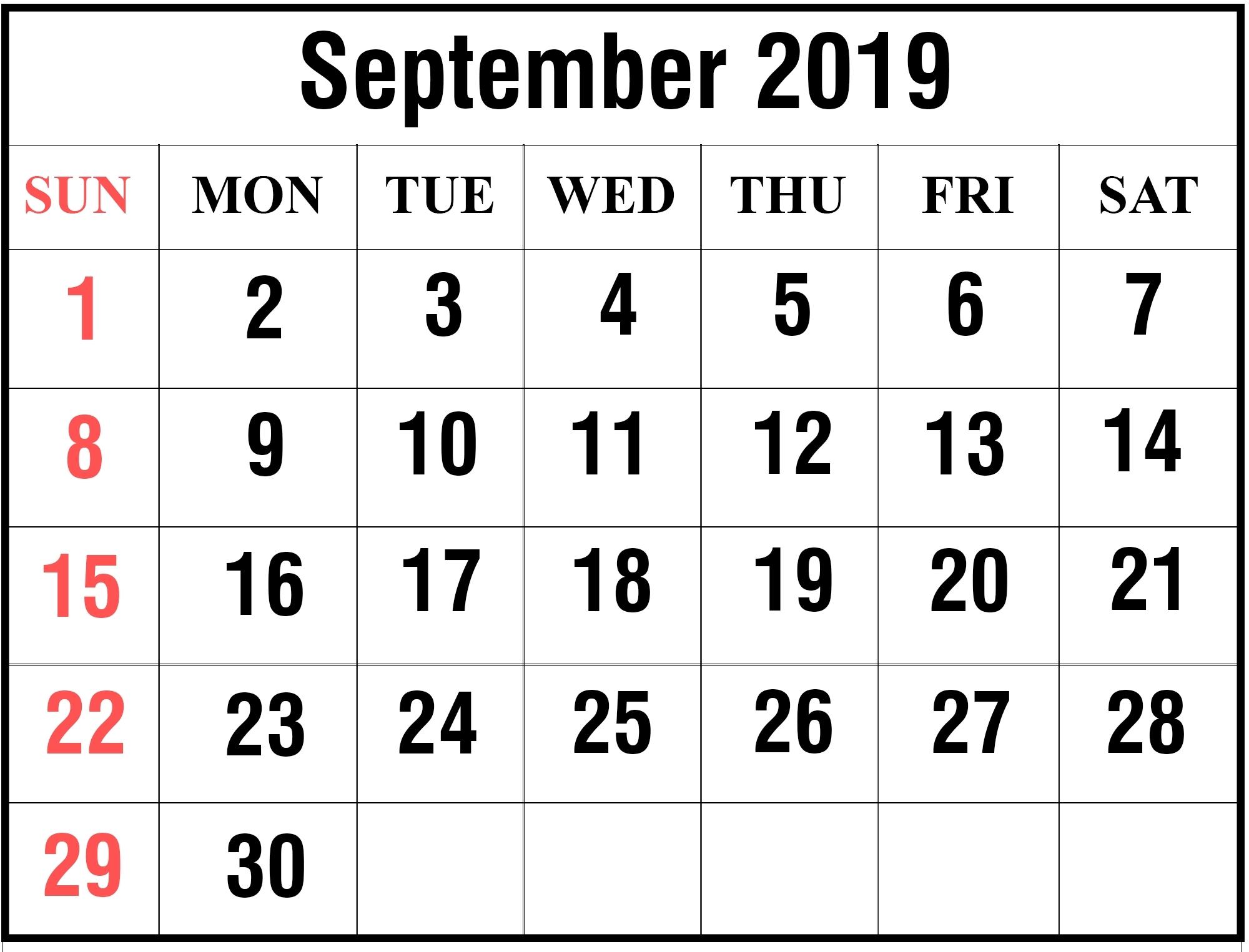 Free Printable Calendar Large Font | Month Calendar Printable
