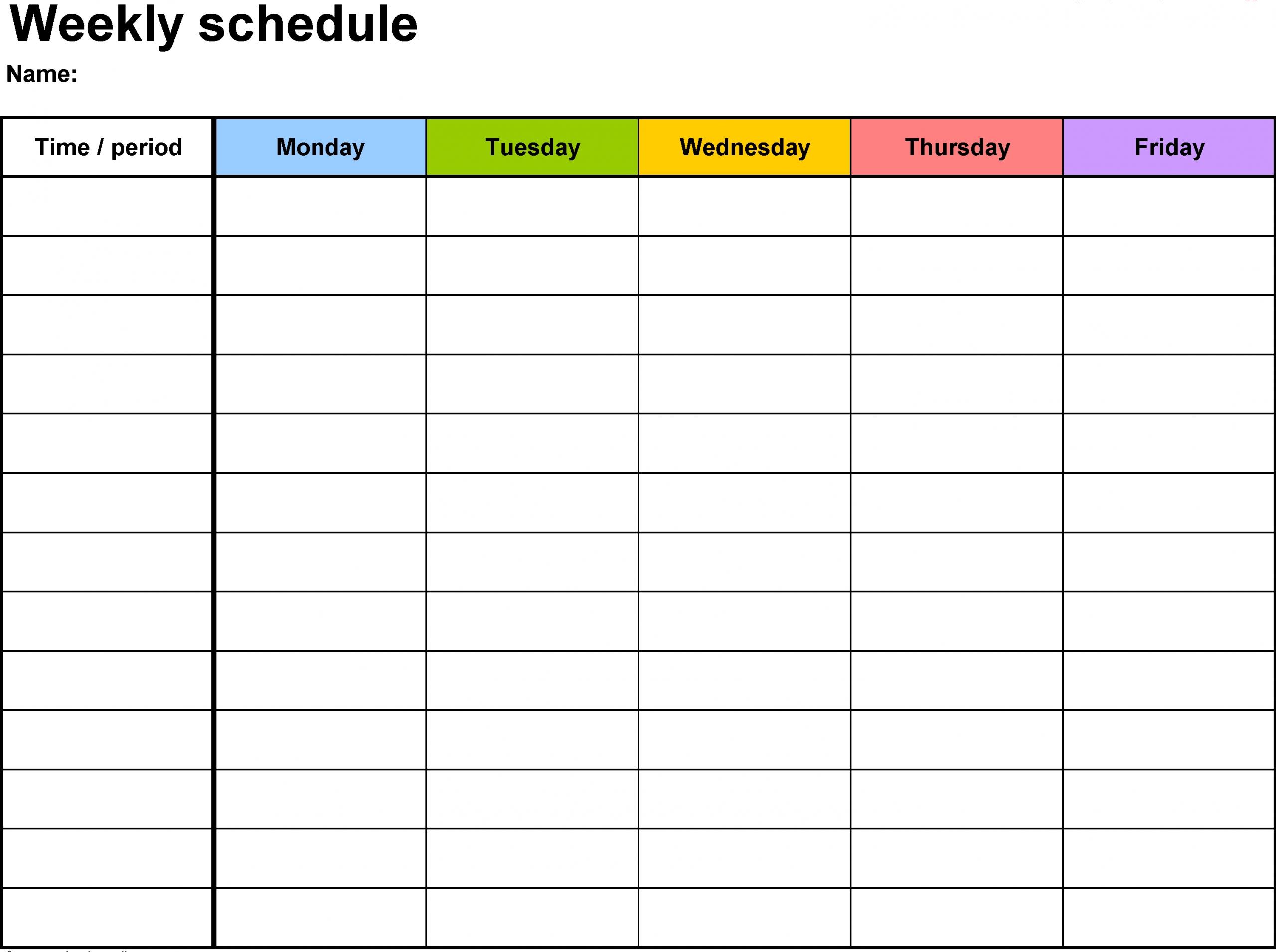free printable calendar with time slots | calendar