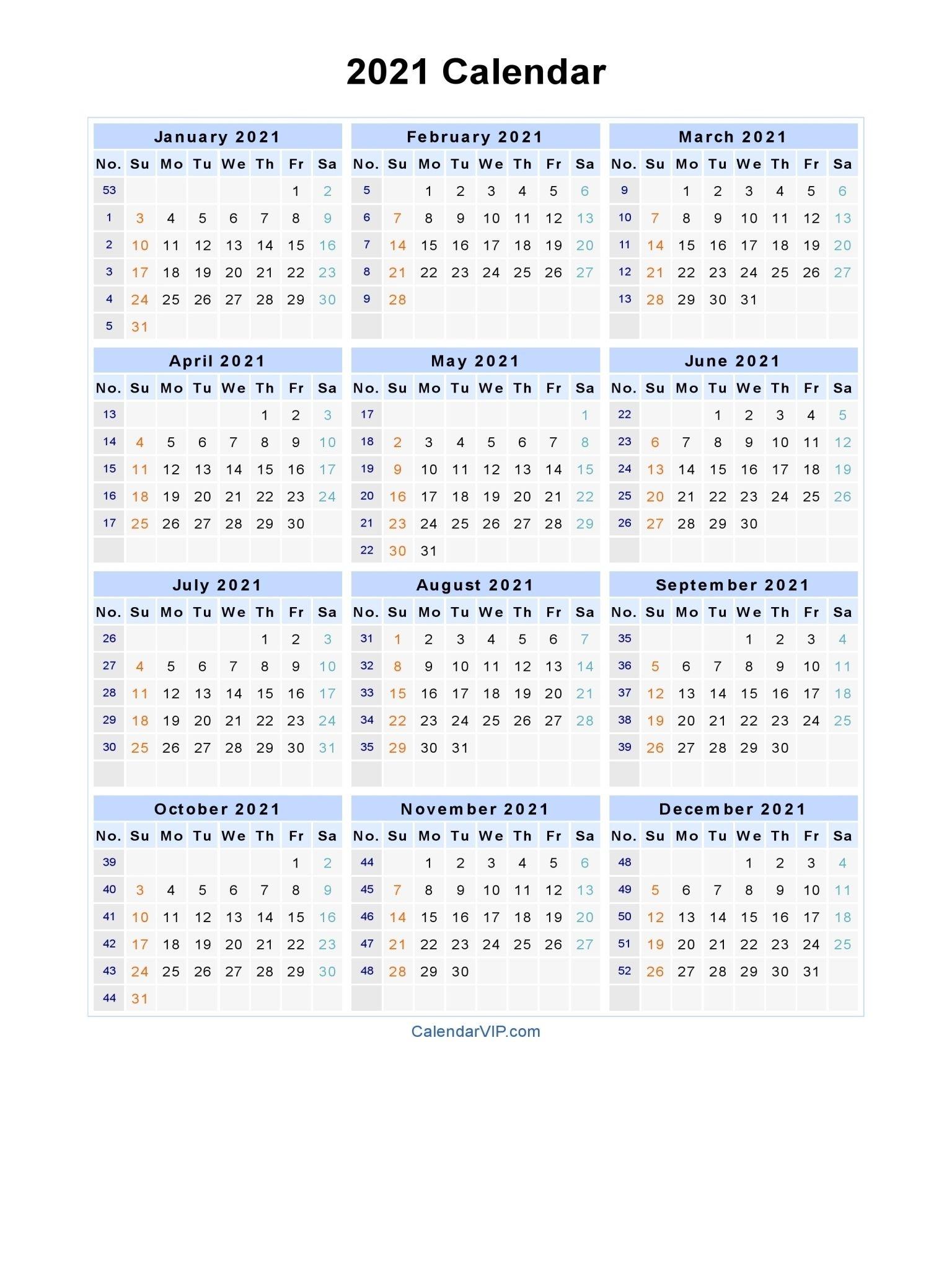 free printable calendar year 2021   ten free printable