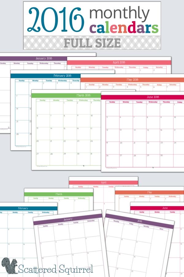 free printable monthly calendars for teachers calendar