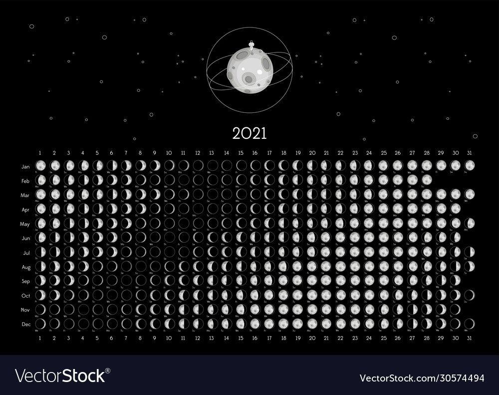 free printable moon calendar 2021 | month calendar printable