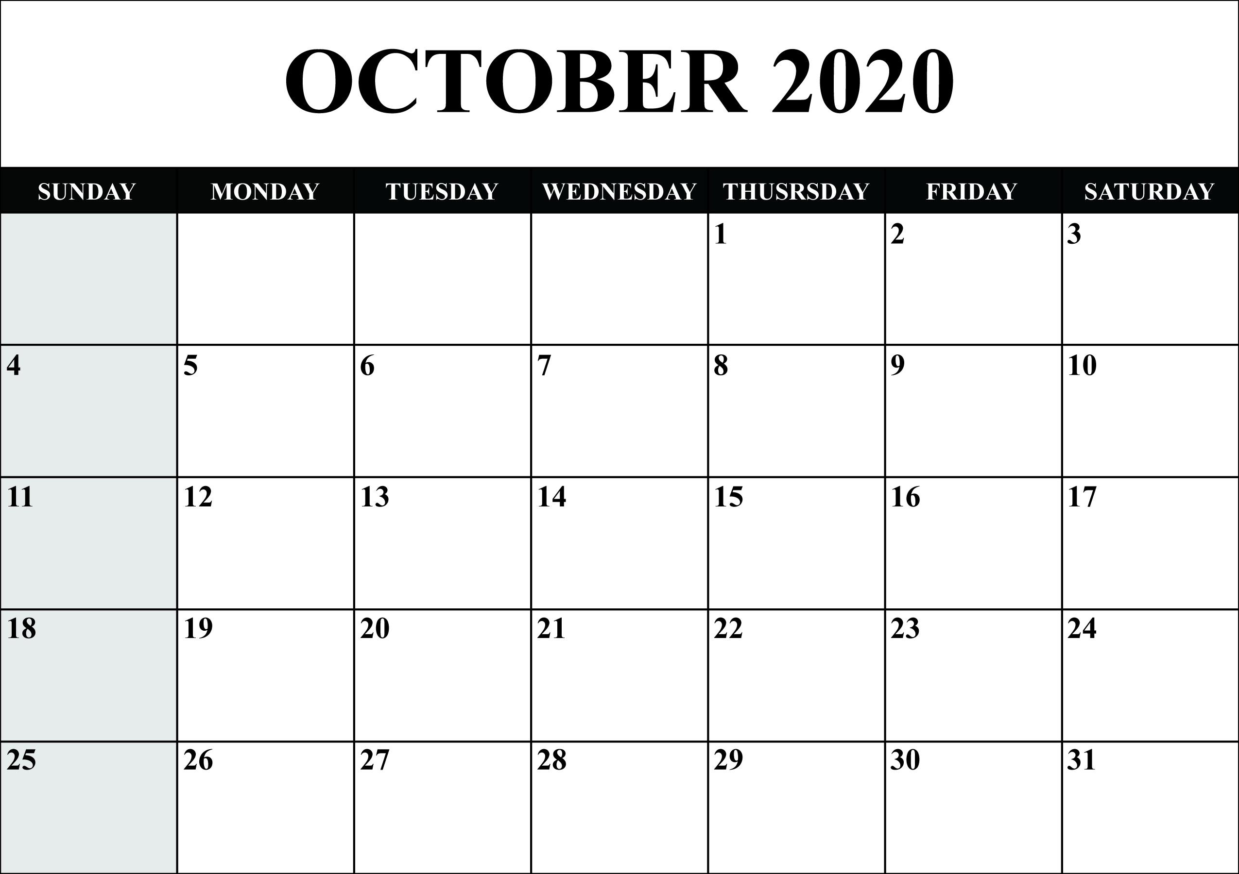 free printable sunday thru saturday 2021 calendar   ten