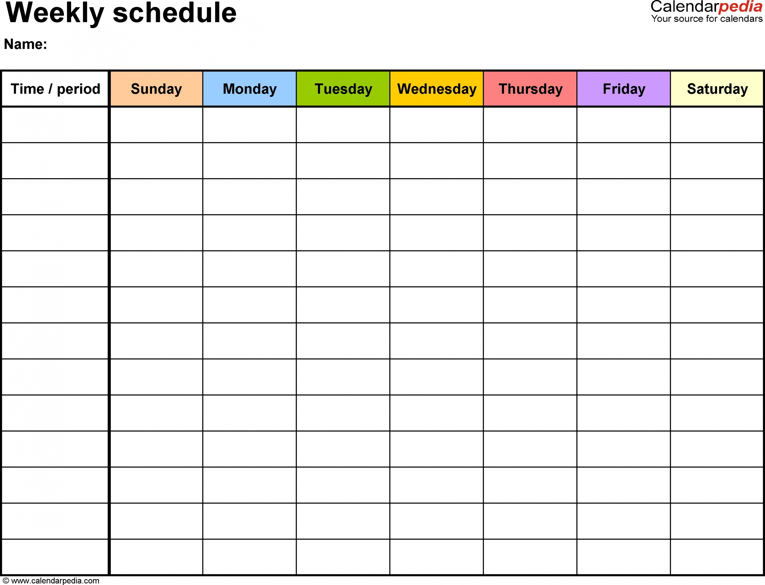 Free Printable Weekly Calendar Monday To Sunday | Month