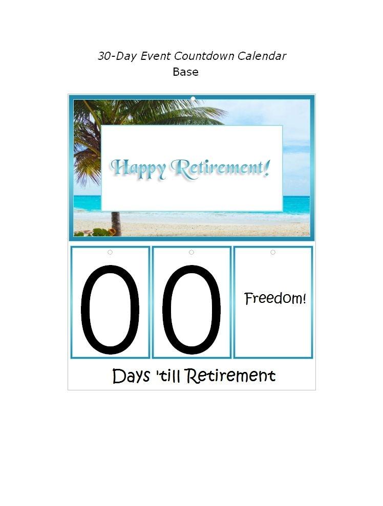 free retirement calendar countdown | calvert giving