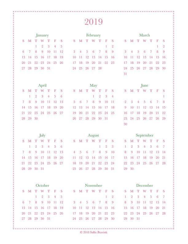 free year at a glance calendars {2020 & 2021} | at a