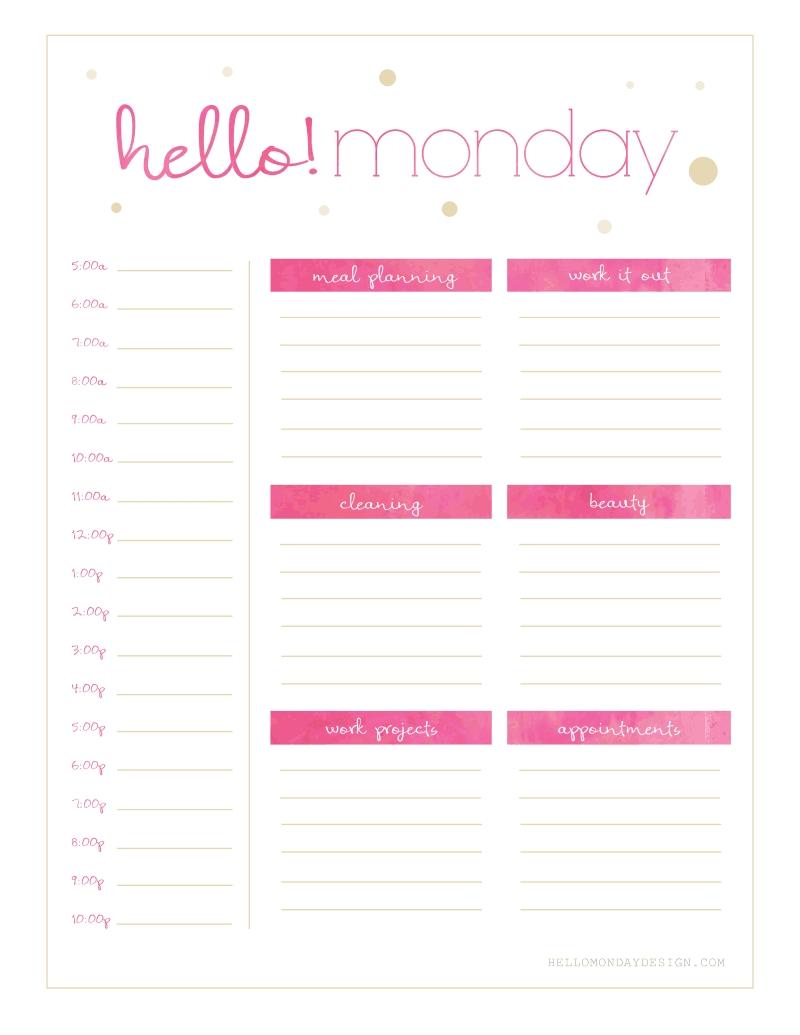 Freebie Friday // Calendar & Planner | Planner Printables Free