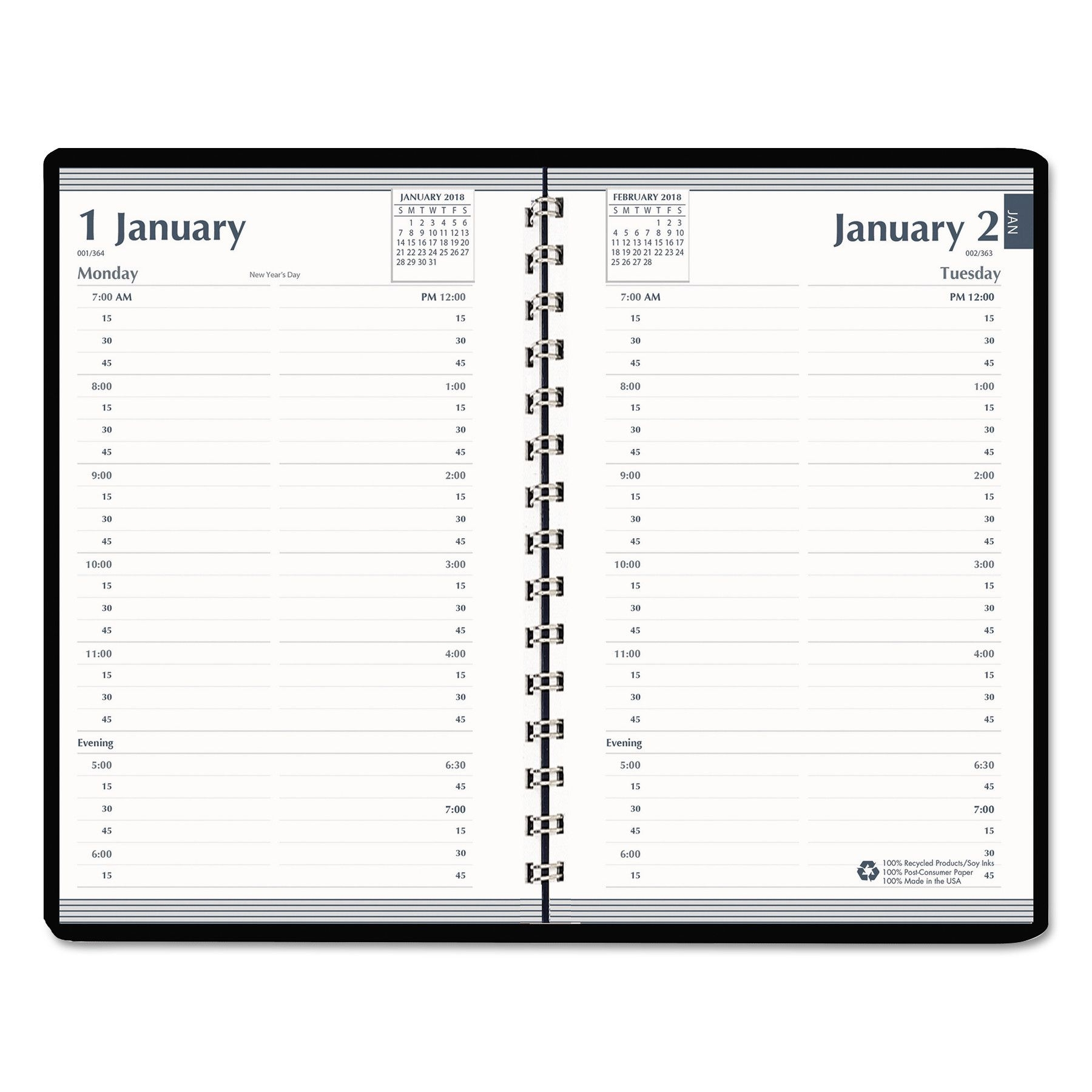 house of doolittle daily appointment book, 15 minute